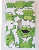 Green Frog Light Switch Plate Covers / Single Toggle