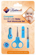 #1 Best Baby Nail Clippers Set with Scissors, File and Safe Grooming Tips, Complete Solution Fits Any Child Age. High Quality Nursery Care Kit. Great as Bath or Shower Gift. 365 Days.