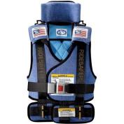 Safe Traffic System Ride Safer 2 Travel Vest, Blue, Small
