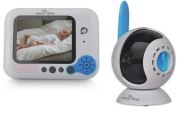 Easy@Home Wireless Digital Video Baby Monitor - 8.9cm Full colour TFT LCD Screen and Infrared Night Vision to watch your baby safe and sound anytime | Two Way communication to listen and talk to your baby | Voice Activation (VOX) feature to save ener ..