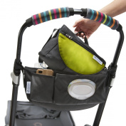 CityStroll 2-in-1 Stroller Organiser/Caddy and Take with You Shoulder Bag, Lime Green