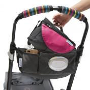 CityStroll 2-in-1 Stroller Organiser /Caddy & Take with You Shoulder Bag, Pink