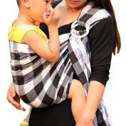 Vlokup® Wrap Original 100% Cotton Adjustable Baby Carrier Infant Lightly Padded Ring Sling Plaid