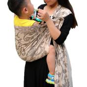 Vlokup(TM) Wrap Original 100% Cotton Adjustable Baby Carrier Infant Lightly Padded Ring Sling Flower