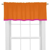 Tangerine Orange & Fuschia Valance