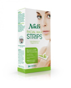 Nad's Hypoallergenic Facial Wax Strips, 24 strips