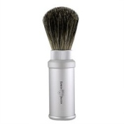 Edwin Jagger Matte Silver Travel Shave Brush