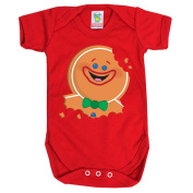 Red Baby 6-12 Months Gingerbread Man Baby Grow