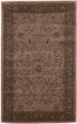 Modern Traditional 0.9m by 1.5m (0.9m x 1.5m) La Jolla Brown Contemporary Area Rug