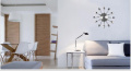 Ohuhu® Cutlery Kitchen Fork & Knife Wall Clock / Decorative Clock, Sliver