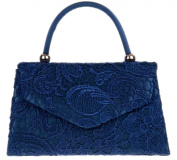 Girly HandBags Lace Satin Top Handle Clutch Bag Handbag Wedding Vintage Designer Womens Fashion
