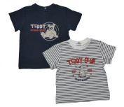 Twin Pack Baby Boys Summer Teddy T-Shirts Tops