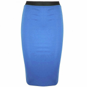 Be Jealous Womens Pencil Plain Work Office Ladies Stretch Bodycon Mini Midi Skirt