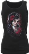 Spiral - Women - DAY OF THE DEAD - Razor Back Top Black