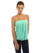 PattyBoutik Women's Pleated Tube Top