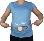 Maternity Pregnancy size 10 - 20 Cotton BABY Peek a boo Print Top Tunic T-Shirt White Black Blue Teal Green Lime Violet Pink