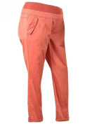 Ex Store Cotton Maternity Pull On Trousers Orange