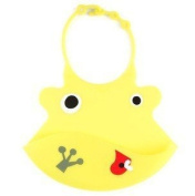 Bibs soft silicone baby and toddler bib with crumb catcher-Yellow