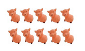 KingWinX Baby Rubber Bath Toys, Pack of 10 pcs Pink Pigs