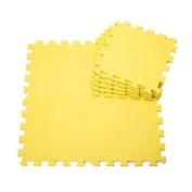Quality Waterproof Baby Foam Playmat Set-9pc /Yellow