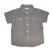 Plum Collections 6/12m Baby Boys Short Sleeved Shirt - Cheque