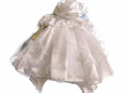 Short Girl's Christening Dress with Hat Colour White 0.6 months
