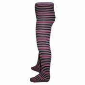 Socks & More - Double striped tights for boys baby, brown / beige