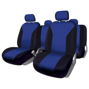 FUK10412 - Set complete car seat covers Granada, Black-Blue