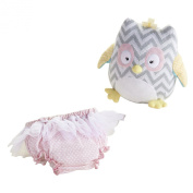 """Haddie-Hoo and Bloomer Too!"" Knit Owl & Bloomer for Baby"