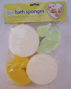 Baby Bath Sponges - Pack of 4