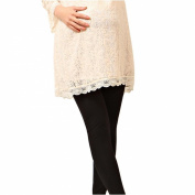 Liang Rou Maternity Elastane Adjust Waistband Full-length Leggings Plain Colour Black
