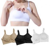 BLACK WHITE BEIGE MATERNITY NURSING SLEEP BREASTFEEDING BRA 32-42 A B C D E F 1 OR A PACK OF 3