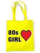 80s Girl Eco Friendly Tote / Shoulder Bag