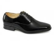 Goor Boys 4 Eyelet Patent Dress Shoes Black