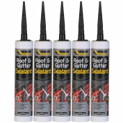 EVERBUILD PACK OF 5 300ML ROOF AND GUTTER SEALANT ADHESIVE WEATHER RESISTANT