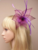 Purple Petal Fascinator on clip and brooch pin for specail events