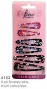 6 X Bendy Snap Hair Clips / Metal Sleepies / Hair Grips / Tic Tac Hair Clips (Multi