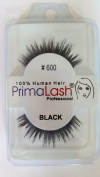 100% Human Hair False Lashes by PrimaLash Professional STYLE 600- Handmade Strip Lashes