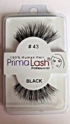 100% Human Hair False Lashes by PrimaLash Professional STYLE 43- Handmade Strip Lashes