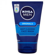 NIVEA MEN Deep Cleansing Face Wash - 100 ml Pack of 3