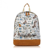 Wooland Print Rucksack Backpack School Bag