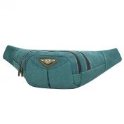 Unisex Canvas Waist Bags Bicycle Bag Shoulder Sling Chest Military Patchwork Messenger