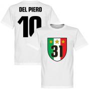 Juventus 31 Campione T-Shirt + Del Piero 10 - White