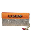 Gold Jute and Raw Silk Clutch by Meera Mahadevia
