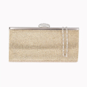 HotStyleZone Ladies Bling Crystal Diamante Flap Satin Purse Bride Clutch Wallet Party Prom