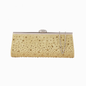 HotStyleZone Women both sides Satin diamante glitter Clutch Bag Bridal Evening Party