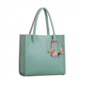 Culater®Fashion Elegant Girls Handbags Leather Shoulder Bag Candy Colour Flowers Women Tote