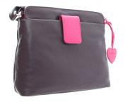 Ashlie Craft Leather Shoulder Bag Style AC8200_ac Plum/ Berry