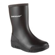 New Dunlop Childrens Unisex Mini Waterproof Wellington Wellie Black Boots - K100010