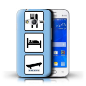 STUFF4 Phone Case / Cover for Samsung Galaxy Ace 4 Lite/G313 / Skate/Skateboard/Blue Design / Eat/Sleep Collection